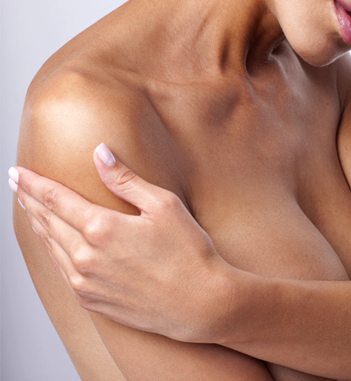 Woman with arms crossed over her chest
